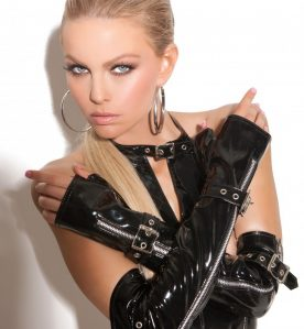 PVC Zip & Buckle Gloves