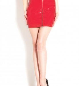 PVC Isabella Skirt in Red