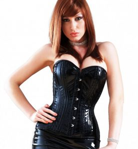 PVC Corset in Black