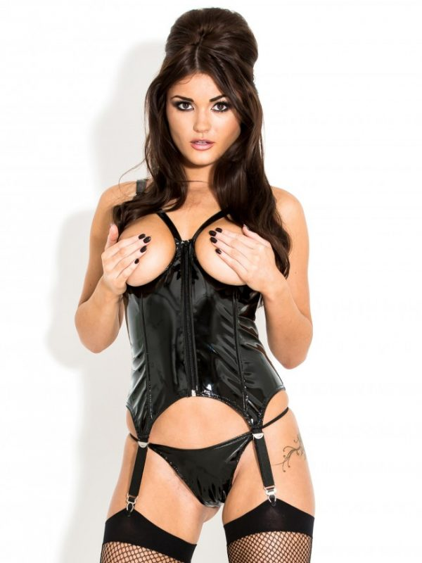 Sultry Open Cupped PVC Basque