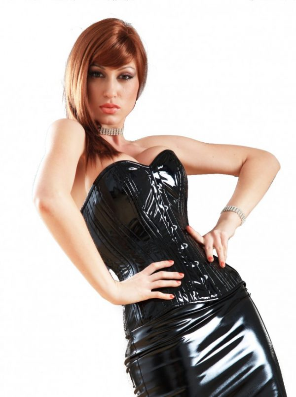 PVC Corset in Black