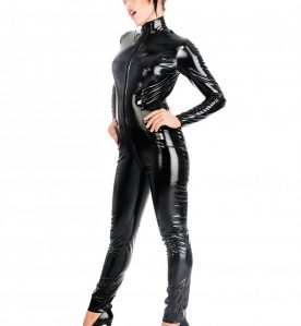 2 Way PVC Zip Catsuit