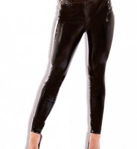 PVC Slinky Jeans with Front & Back Pocket