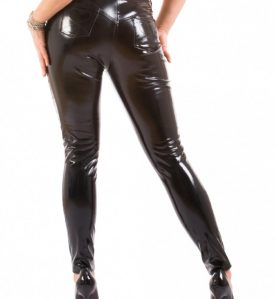 PVC Slinky Jeans with Front & Back Pocket