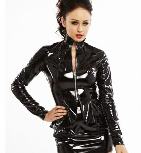 Paris Peplum PVC Jacket