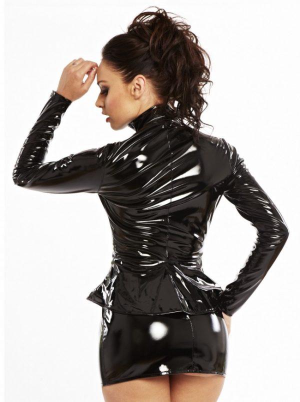 Paris Peplum PVC Jacket