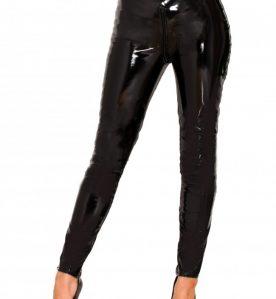 PVC Zip Through Jeans