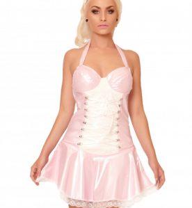 Pink PVC Angelina Dress