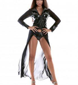 Cordelia Mesh & PVC Dress