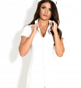 PVC Sexy Nurse Dress in White