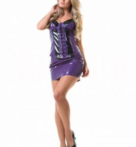 PVC Corset Top in Purple