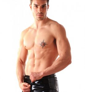 PVC Boxer Shorts With Thru Zip