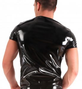 PVC Round Neck T Shirt