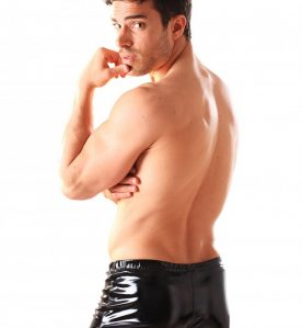 PVC Boxer Shorts With Front Zip