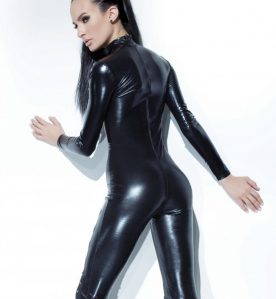 Wetlook Lace Front Catsuit