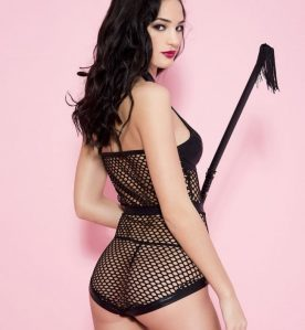 Fishnet Halter Body with Wetlook Inserts