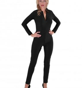 Lycra Glamazon Catsuit in Black